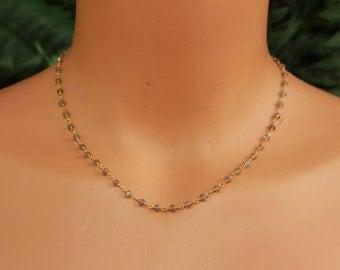 Labradorite Beaded Necklace, Long or Short, You Choose Length, Gold Labradorite Necklace, Layering Necklace, Dainty Necklace, Minimalist