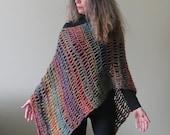 """Easy Crochet Poncho PATTERN / Asymmetrical Poncho / Shawl Wrap / Beginner PDF / Made in Canada / """"Fiesta Poncho"""""""