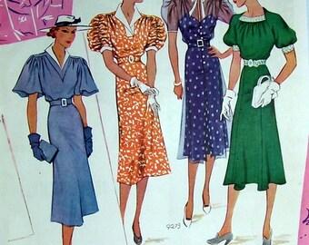 Ladies Fashion Ad, Original Magazine Page, 1937 Magazine,  Cool as Mint Dresses, Artist Jean des vignes, Reverse Side Dresses with Jackets