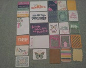 We R Memory Keepers INKED ROSE project life cards - set of 25