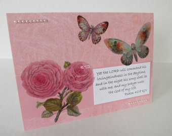 Prayer Unto The God Of My Life Christian Praying For You Card With Scripture