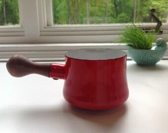 Vintage Dansk Butter Pot - Red - IHQ - France