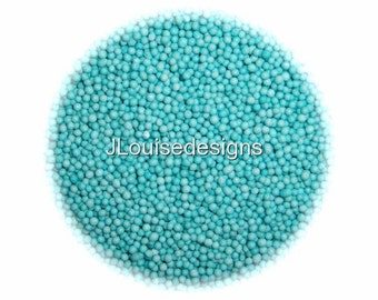 TEAL NONPAREILS Edible Sprinkles,Custom Colors, Cakepops Cupcake CandyConfetti Decorations 2oz.