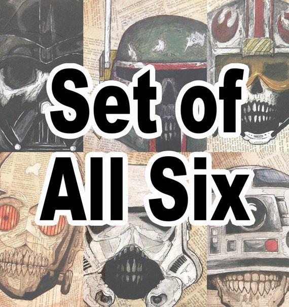Dead Star Wars Print Set of Six (6)
