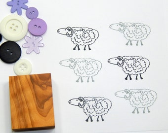 Long Horn Sheep Olive Wood Stamp
