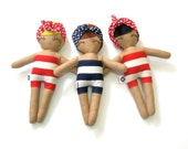 Swimming Sarah, Beach Beauty Rag Doll - MADE TO ORDER