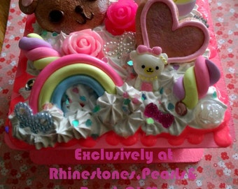 Kawaii Decoden Candy Box Whipped Cream Frosting Resin Heart Goodies