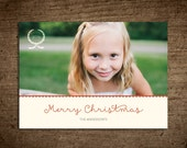 Happy Holidays Card Printable Template : Merry Christmas