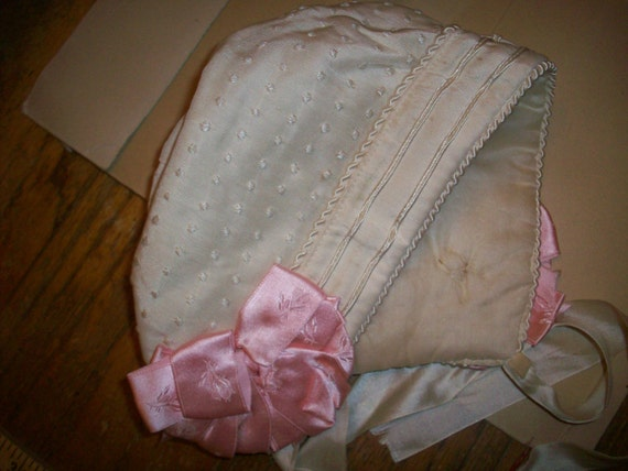 Amazing in box perfect silk baby hat 1920s