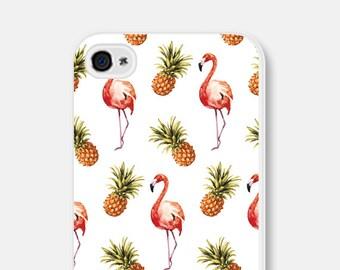 Flamingo iPhone 7 Case Gift iPhone SE Case Pineapple iPhone 6 Case Flamingo Phone Case Unique iPhone 5 Case Samsung Galaxy S7 Case