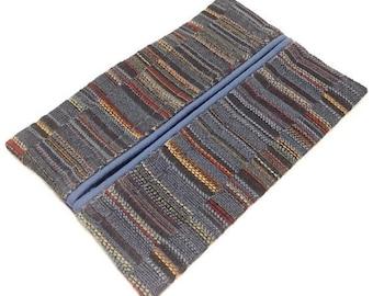 Travel Tissue Holder, Gift under 10, Blue, Pocket Tissue Holder, Fabric Tissue Case