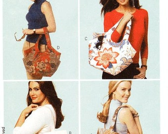 Butterick Tote Bag Pattern B5658 - Tote Bags in Four Variations - Ladies Accessories