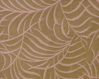 FABRIC Upholstery:  Spring Green and White Fern Fabric