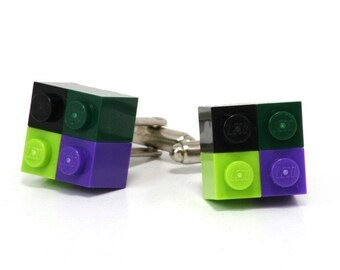 4-pack cufflinks MONTREAL made with LEGO® bricks