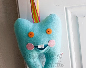 Custom Tooth Pillow - Stuffed Tooth Pillow - Tooth Fairy Pillow - Stuffed Toy - Home Decor - mmmcrafts Tooth Pillow