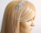 Small Veil ,Bridal head piece ,Bridal Hair Piece,wedding veil,bridal hair ,, bridal head piece