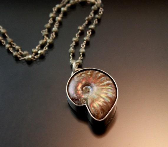 unique handmade silver jewelry bohobohemianammonite pendant