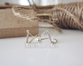 Dagger - Chevron Mid Finger Ring - Insurance included in ALL domestic shipping!