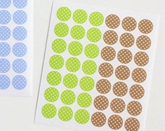 Transparent Circle Deco Stickers - Dot 03 (diameter 0.3 in) 4 sheets