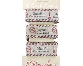 Vintage Label Tapes - Paris Eiffel Tower (0.6in x 3yards)