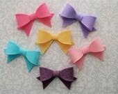 Felt Bow Hair Clip - Pick A Color - Felt Bows, Felt Bow, Hair Bow, Felt Hair Clip, Baby Hair Bow, Girls Hair Bow, Toddler Hair Bow