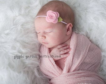 Felt Flower Headband - Pick Your Own Posy - Felt Baby Headband, Baby Flower Headband, Baby Headband, Newborn Headband, Toddler Headband