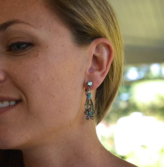 Vintage Rhinestone Dangle Earrings Judy Lee Jewelry. ◅. ▻ - il_570xN.766143501_gghn