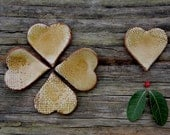 One mustard ceramic heart - wedding favor, love declaration gift, Valentine's gift