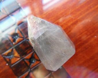 Natural Grey Gray Rutilated Quartz Crystal Wand Point  Reiki Healing Lot5crystal6