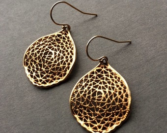 Gold Filligree Earrings
