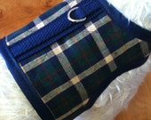 SALE  Smart Navy Plaid Small Dog Harness Made in USA