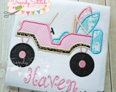 Jeep Surf Applique Machine Embroidery Design INSTANT DOWNLOAD