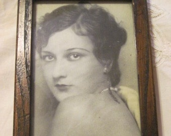 Framed  B & W Photo of Hollywood Glamour Girl, Actress