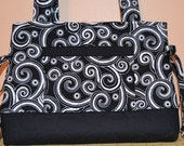 Ready to Ship Quilted Bag Quilted Purse Quilted Bow Bag Handbag Tote Bag MADE and READY To SHIP by Quilted Creations By Me