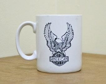 Vintage Harley Davidson Ceramic Mug