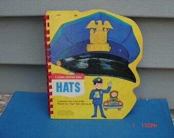 Hats by Grosset & Dunlap, Inc. 1967 -  59 cents - A Sturdi-Contour Book- Rare