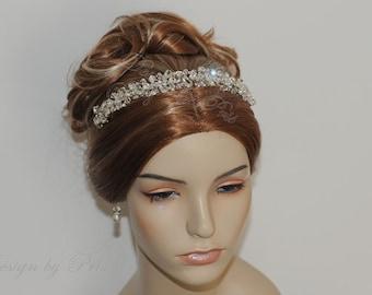 Wedding Bridal Headpiece, Bridal Rhinestones Crystals Headpiece -  Rhinestones Crystals Swarovski Crystals Headband