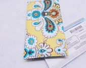 Amy Butler Checkbook Cover, Duplicate Checkbook, Yellow, Teal, Made in USA