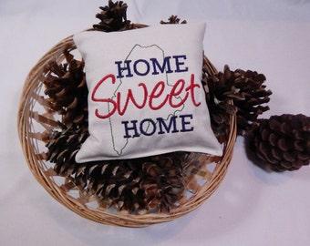 Balsam Sachet, Home Sweet Home, Balsam Fir Pillow, Maine Balsam Pillow, Handmade Sachet, Made in Maine USA