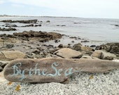 Hand Painted Rustic Driftwood, By the sea summer sign, Cottage Beach Home Decor, Home And Living,  Gift, Wall Decor, Nautical Decor