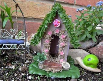 Fairy Garden House, Fairy Garden Home, Fairy Cottage, Fairy Item, Fairy Accessories, Dollhouse, Miniature House, Pixie House, Handmade