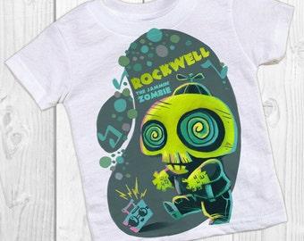 ZOMBIE birthday t shirt - personalized monster party shirt - Halloween birthday - Jammin' Zombie