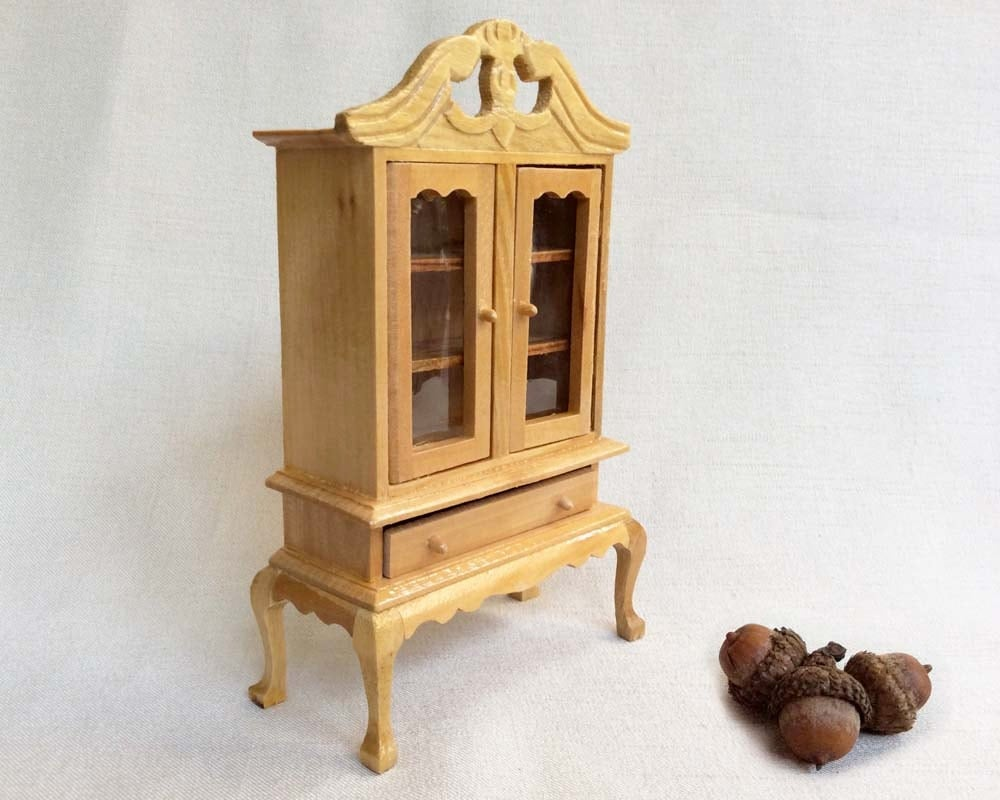 Vintage dollhouse furniture miniature wooden china by clockwinder Dollhouse wooden furniture