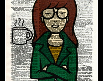 Daria I Believe in Coffee Dictionary Print Wall Art
