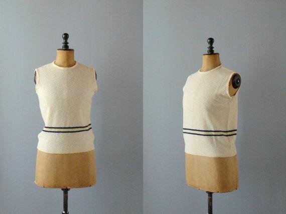 Vintage knit vest. 70s pale cream wool vest. mohair waistcoat