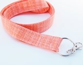 Tangerine Orange - Lanyard ID Badge Holder - Key Strap - Bluebird Park