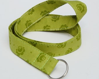Lanyard ID Badge Holder or Camera Strap - Green Roses - Mary Engelbreit - Ready to Ship