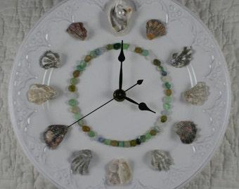 Oyster Shell Wall Clock - Perdido Bay Oyster Shells