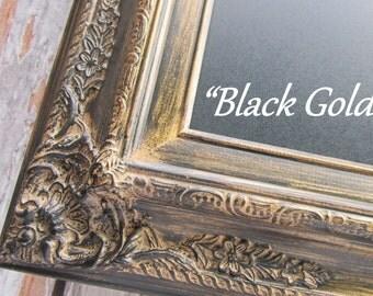 "RESTAURANT CHALKBOARD SIGNS For Sale - X Large Wall Decor Menu Huge Extra Large Black Gold Decor 44""x32"" -Rustic Blackboard Menu Board"
