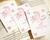 From the Magical Land of the Dear Reader - UNICORN, PEGASUS - Letterpress Bookplates - Set of 25
